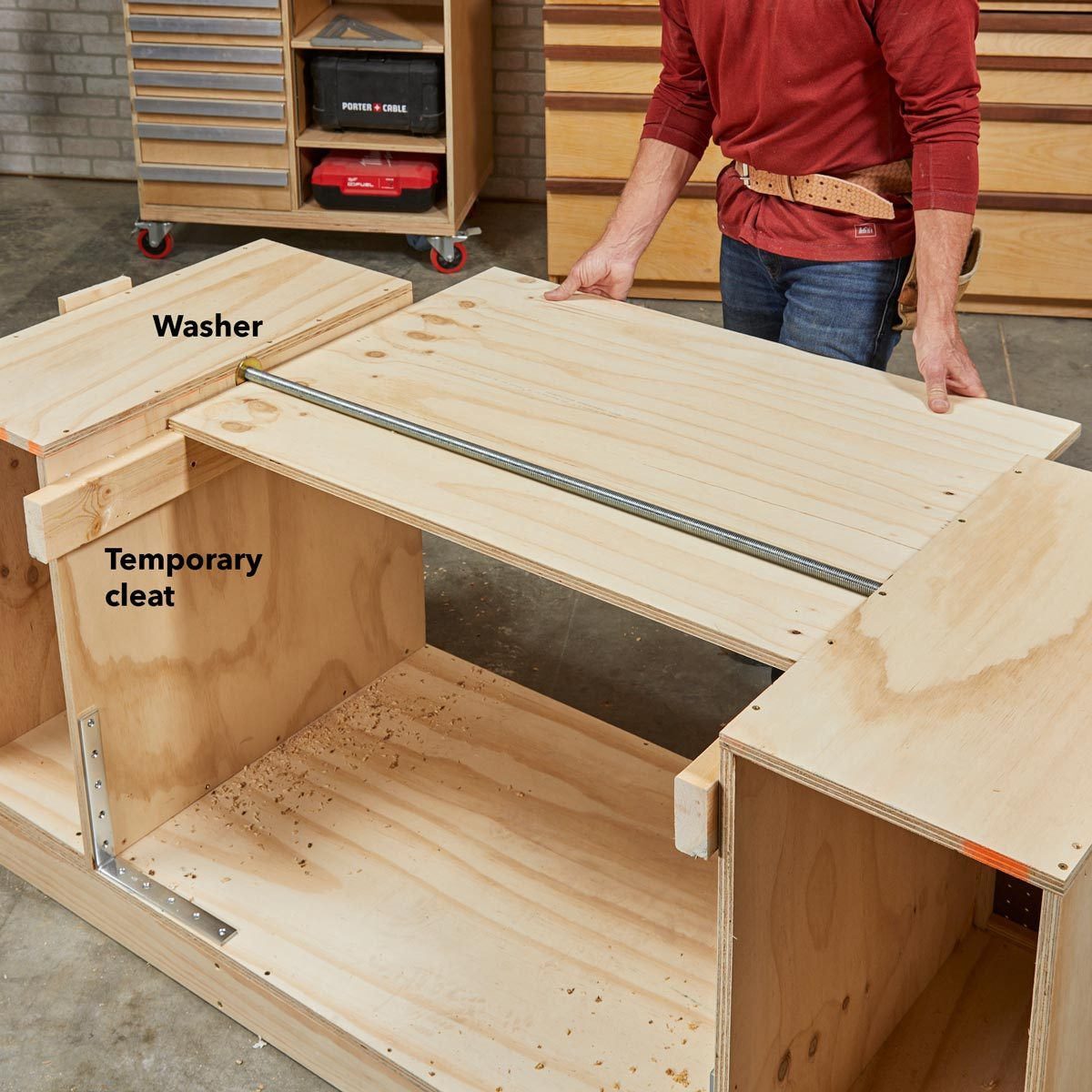 Fabulous How To Build A Space Saving Flip Top Bench The Family Handyman Andrewgaddart Wooden Chair Designs For Living Room Andrewgaddartcom