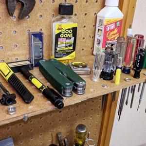 pegboard tool organizer garage storage
