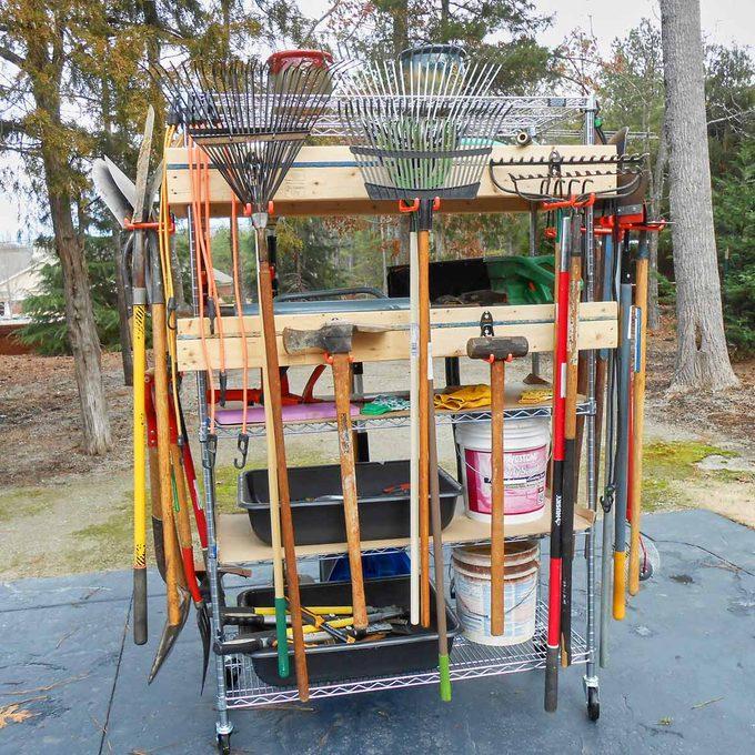 mega mobile storage rack garage storage