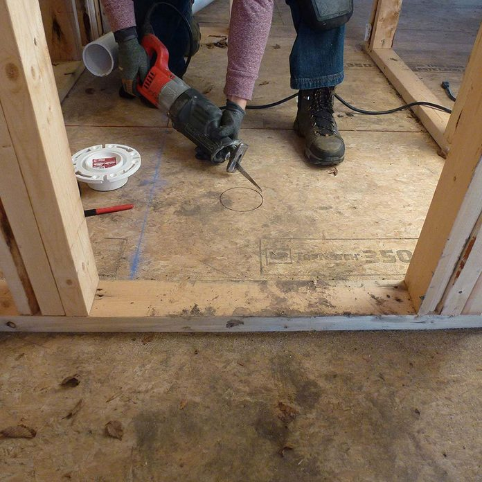 framing toilets cut out