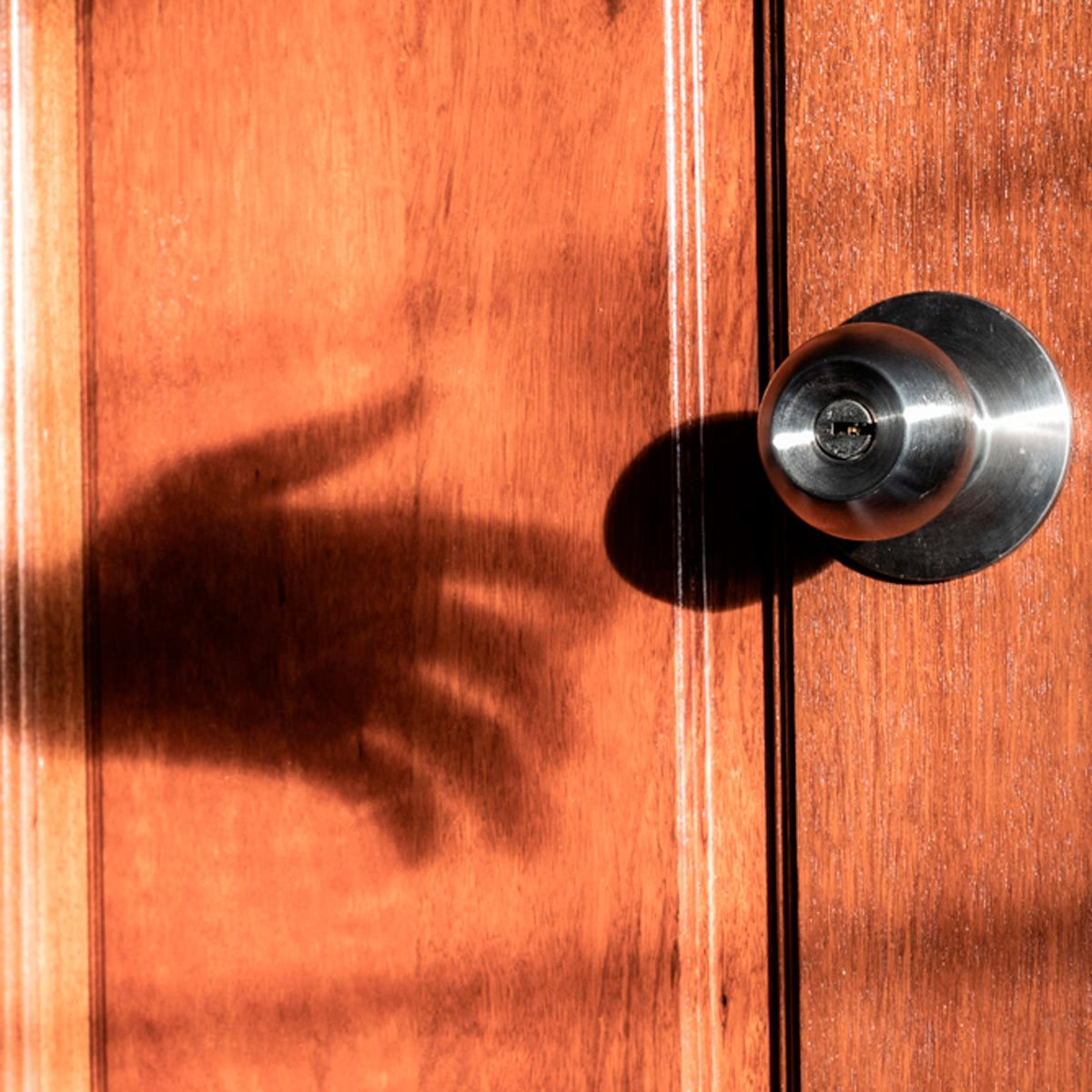 door creepy shadow is your house haunted