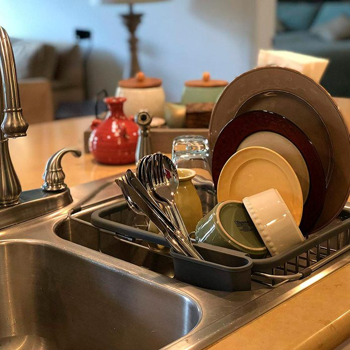 in sink dish drying rack