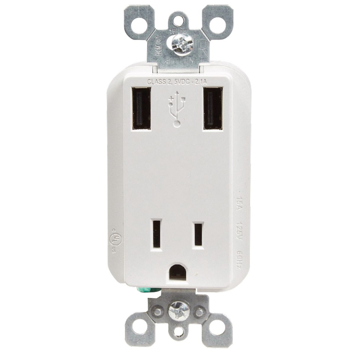 Ac outlet plug with usb ports