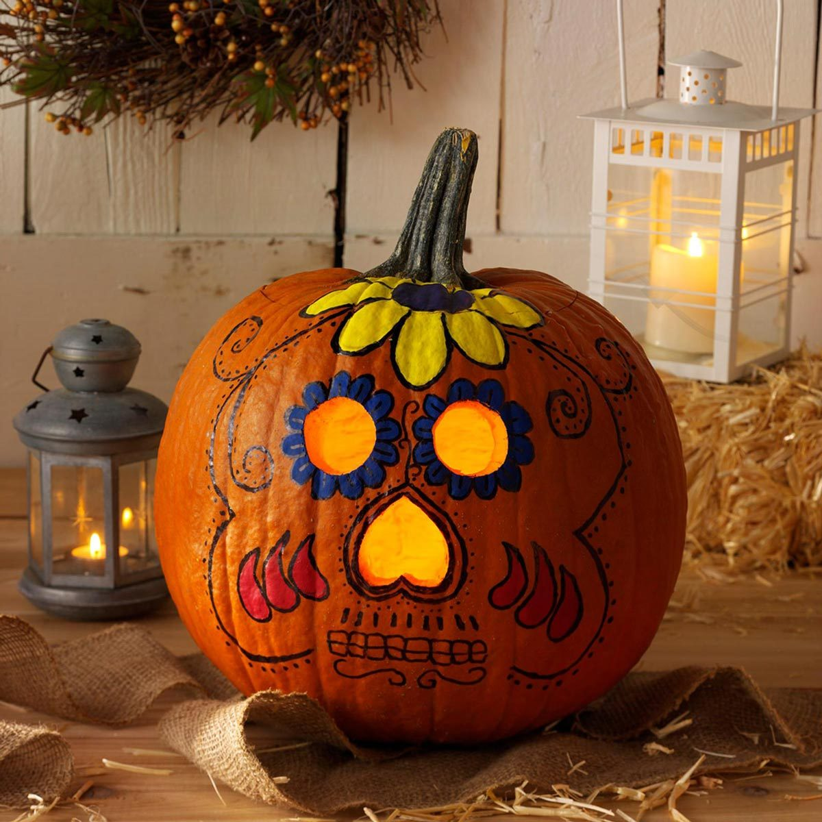 day of the dead pumpkin carving halloween