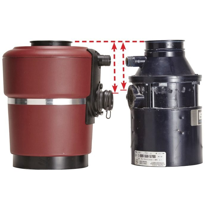 Replace a Garbage Disposal compare outlet heights