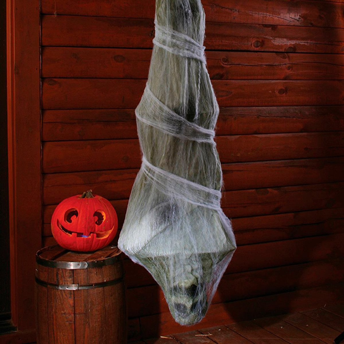 Halloween Party Decoration Hanging Cocoon that moves and light up eyes