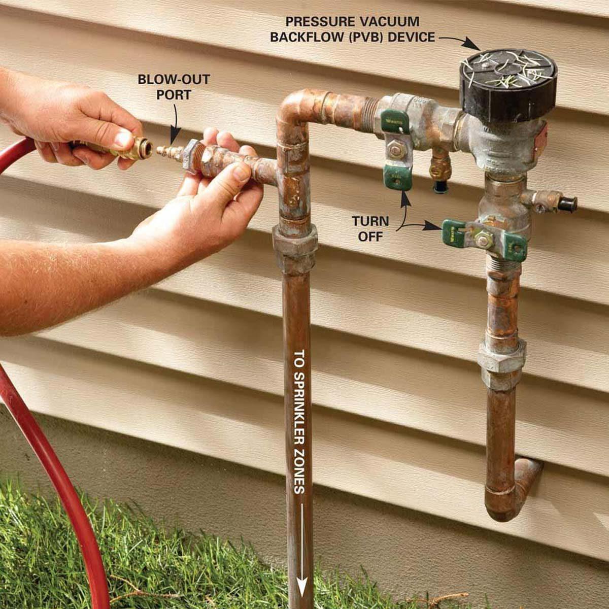 winterize sprinkler system