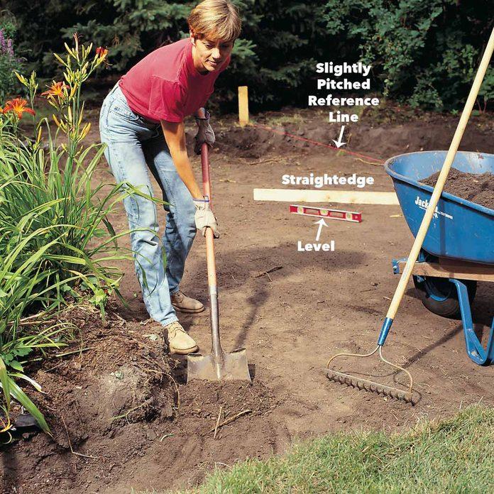 excavate the patio