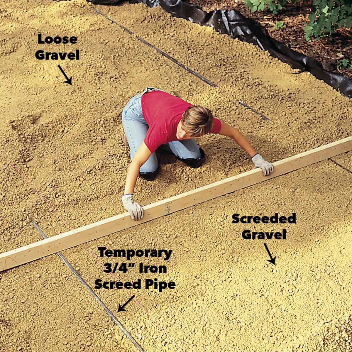 level the gravel