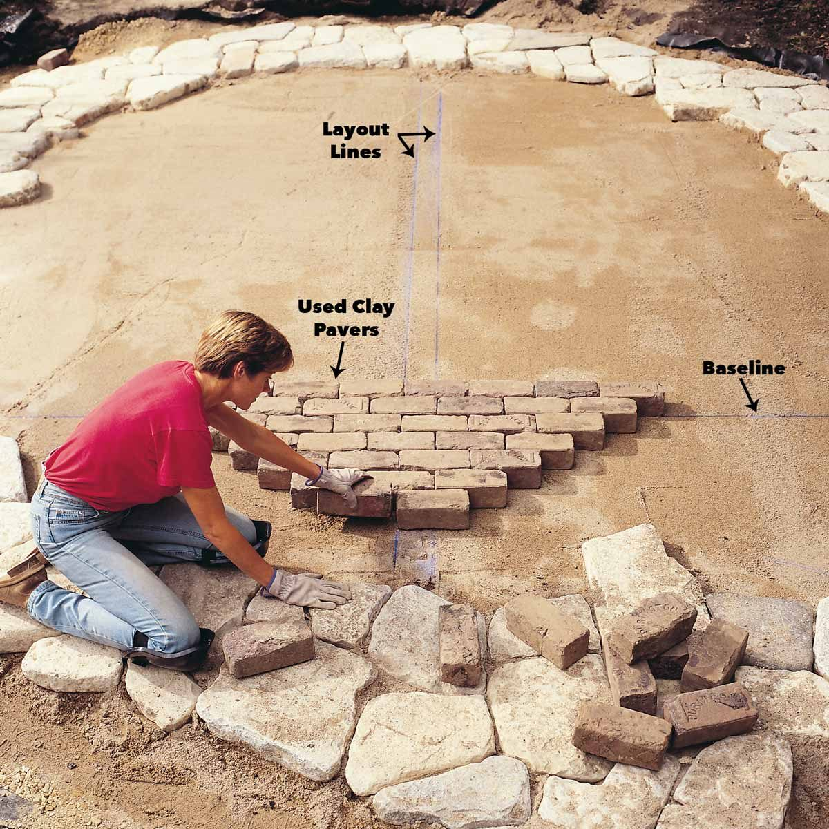 layout bricks brick patio patterns