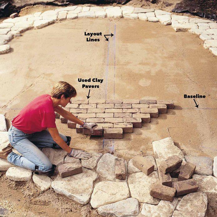 layout bricks brick patio patterns