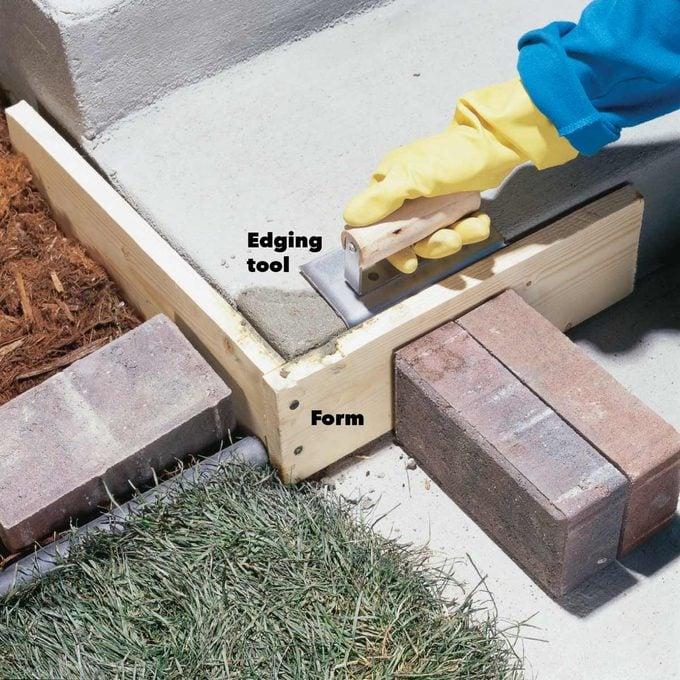fixing concrete step corner