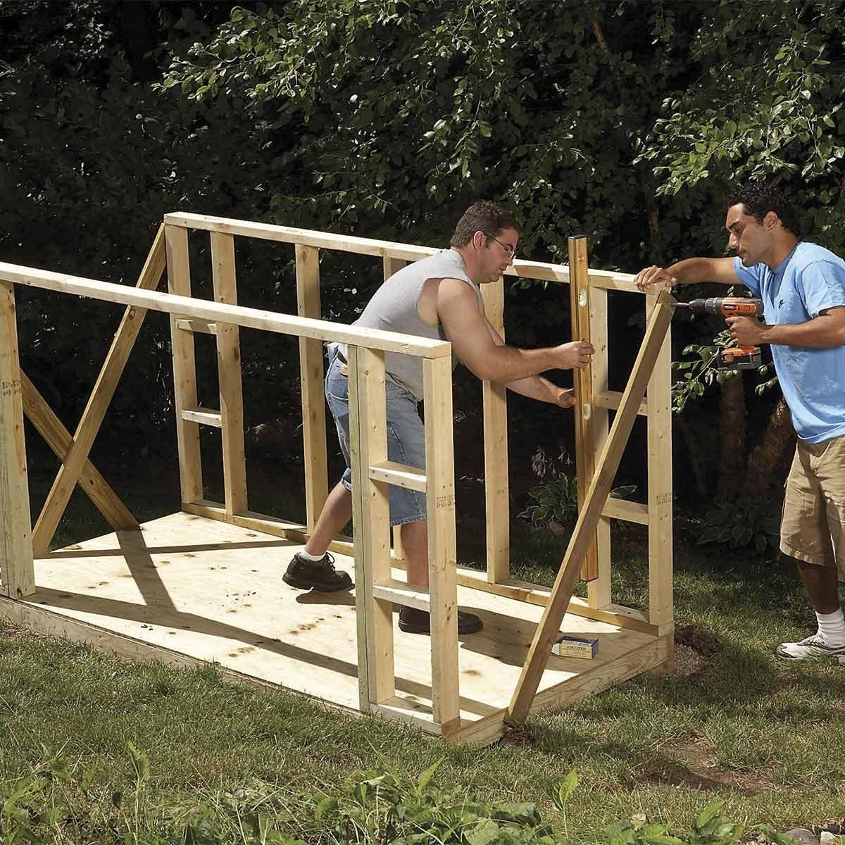 The Family Handyman The Family: Outdoor Storage Locker: Plans & Materials
