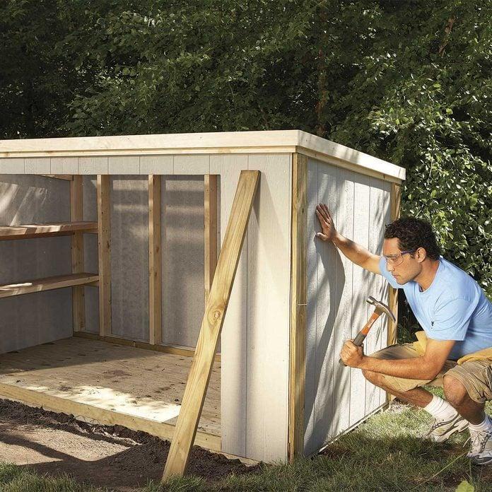 storage shed plans 4x8 - nailing trim