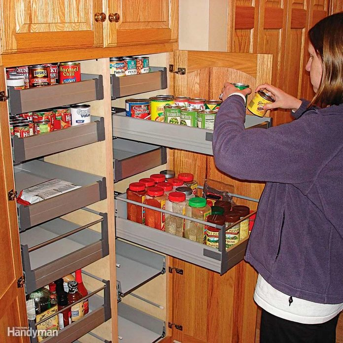 Pull Out Cabinet Organizers You Can Diy, Sliding Drawers Kitchen Cabinets