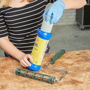 HH handy hints lays chips can painting roller storage