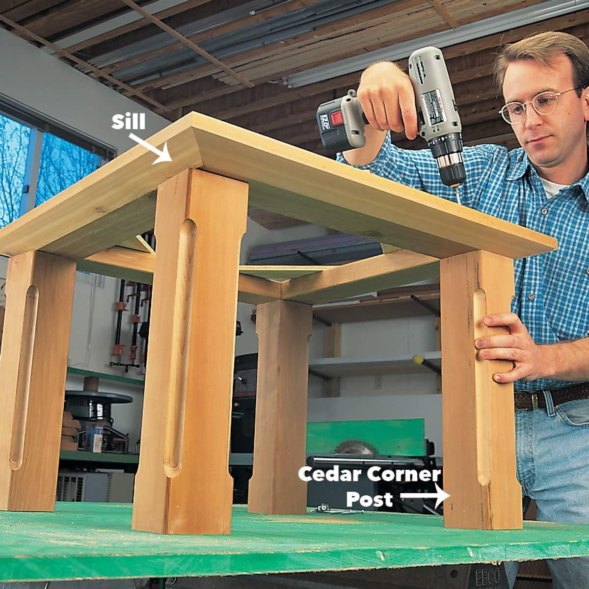 corner posts cupola