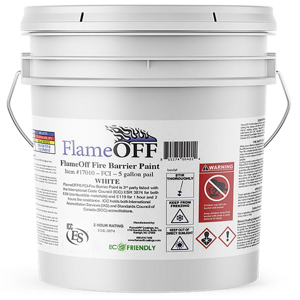 Bucket of fire Retardant coating | Construction Pro Tips