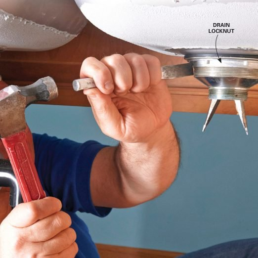 How To Replace A Kitchen Sink Basket Strainer Diy Family Handyman