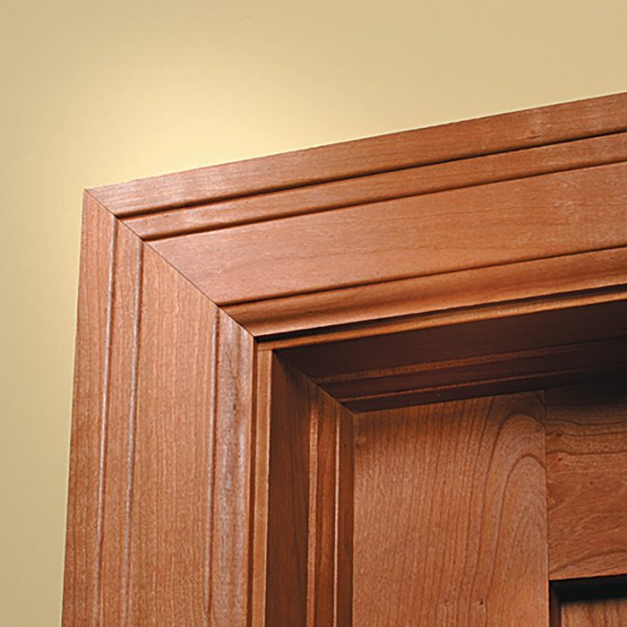 A classic stained miter over a door | Construction Pro Tips