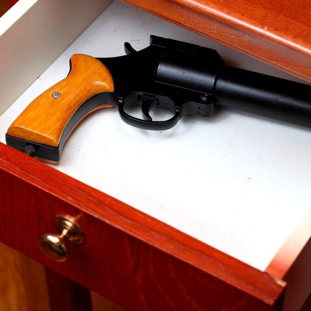 gun in drawer
