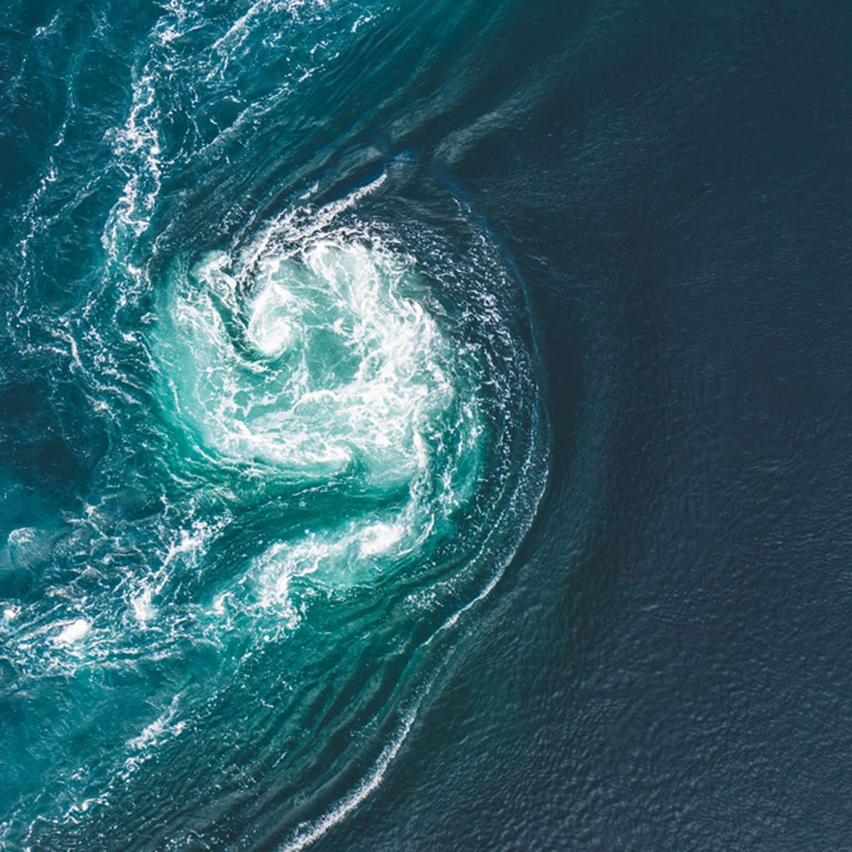 ocean current waves water swirl