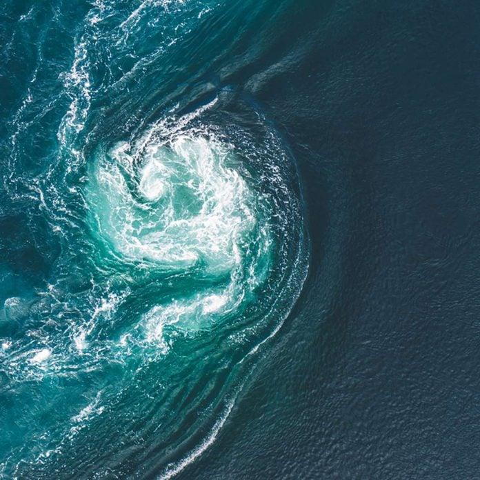 ocean current waves water swirl