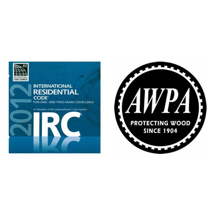 International Residential Code Logo and AWPA Logo | Construction Pro Tips