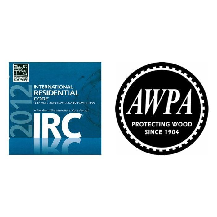 International Residential Code Logo and AWPA Logo   Construction Pro Tips