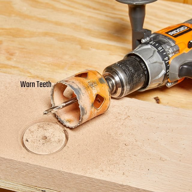 A hole saw with worn-out teeth | Construction Pro Tips