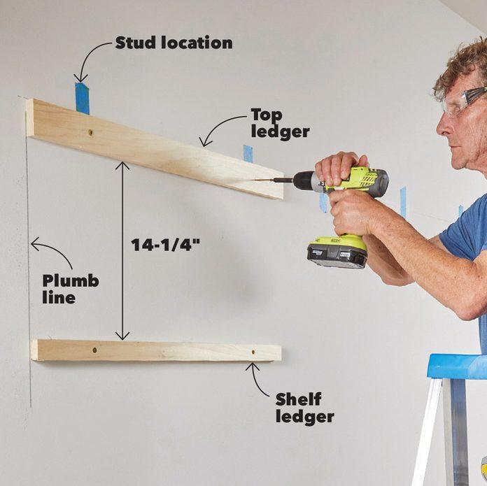 built in cabinet ledger