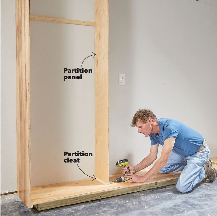 add partitions cabinets garage