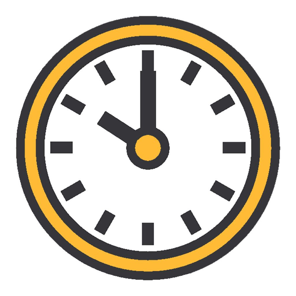 Clip art of a clock | Construction Pro Tips