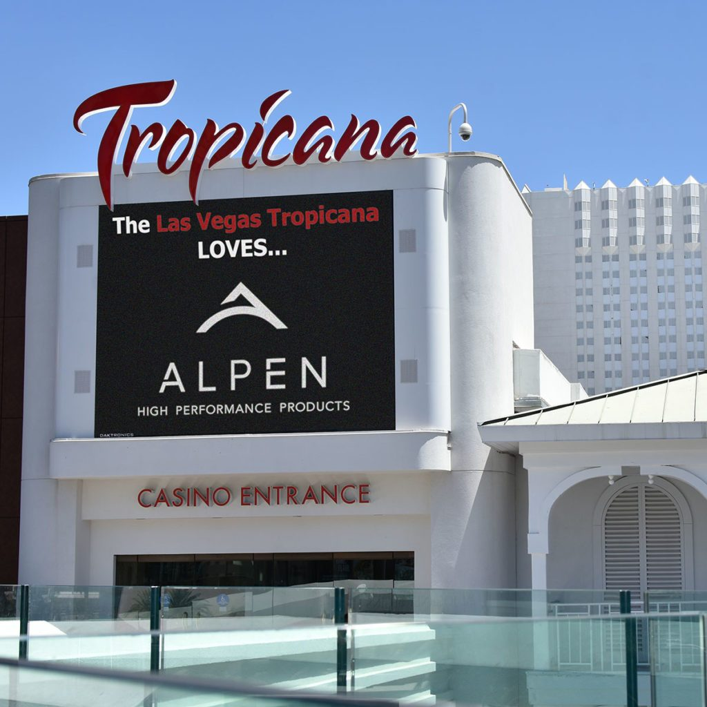 Casino with advertisement for Alpen Windows | Construction Pro Tips