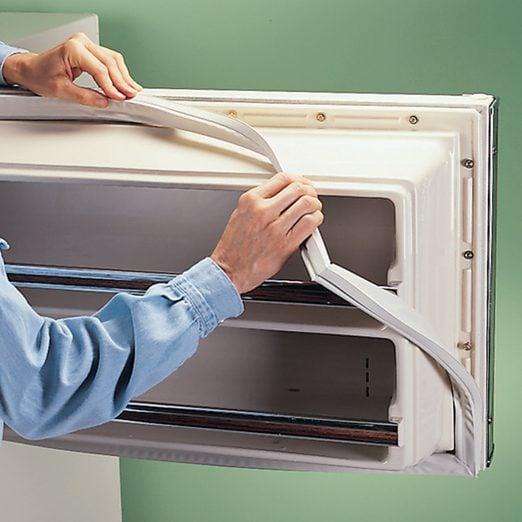 replace refrigerator door gasket