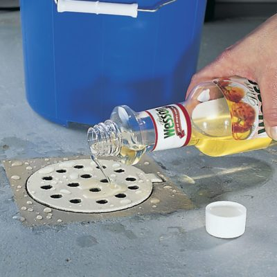 vegetable oil in drain