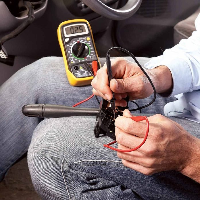 check the resistance multifunction switch intermittent wipers