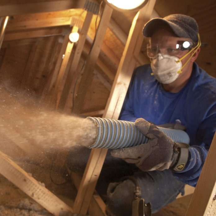 Saving Energy: Blown in Insulation in the Attic