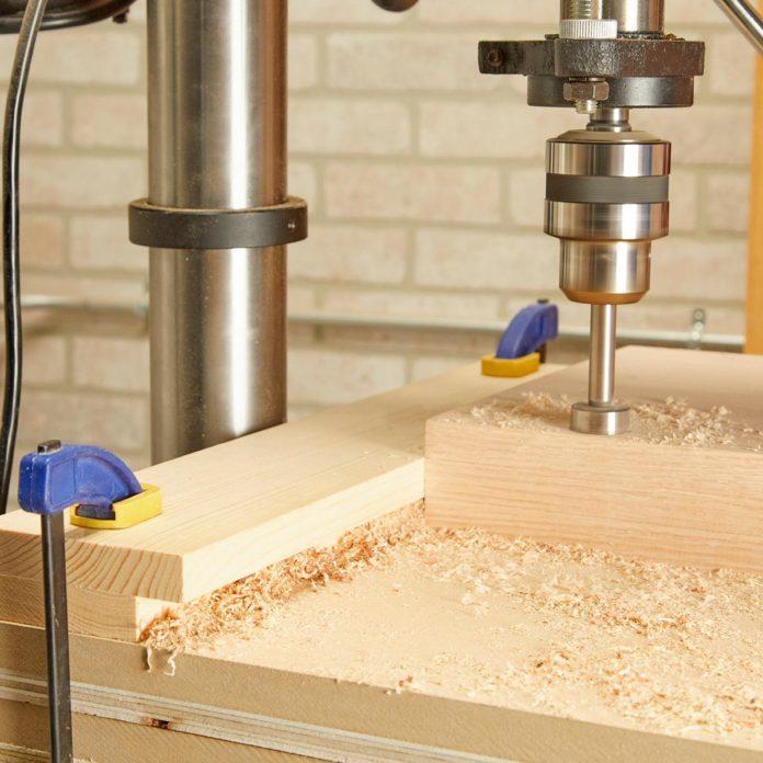 This DIY Drill Press Guide Keeps Sawdust at Bay