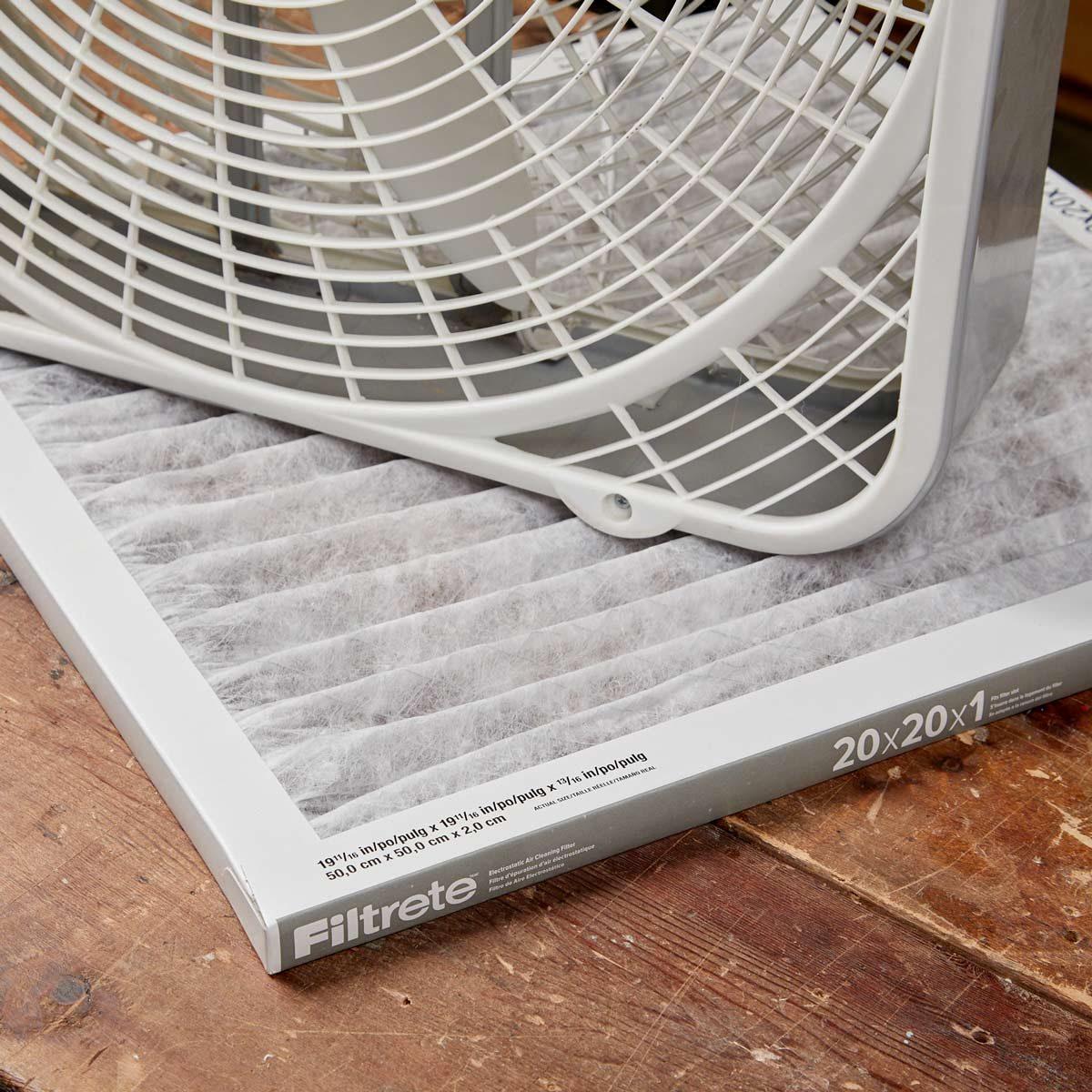 HH Handy Hint saw dust filter fan furnace filter