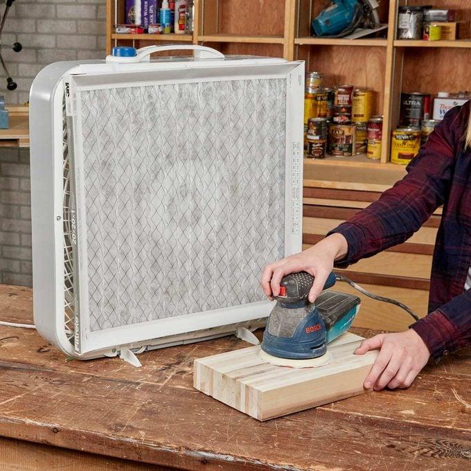 HH Handy Hint box fan woodworking filter fan furnace filter