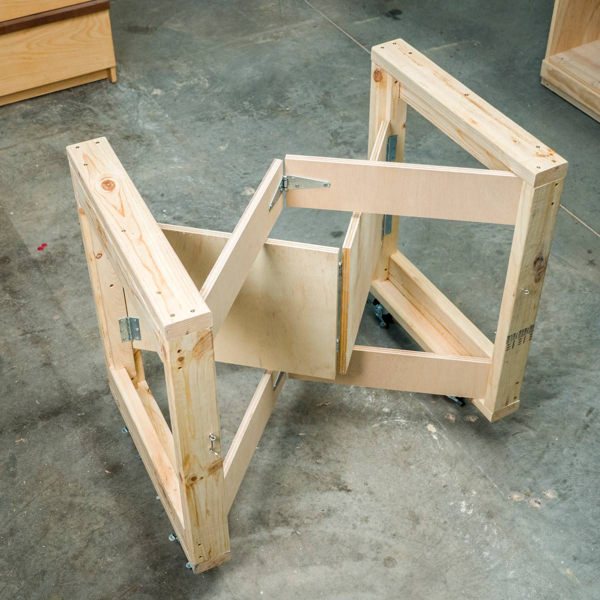 Saturday Morning Workshop Folding Mobile Workbench The