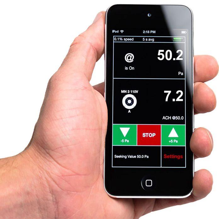 An app for blower door testing | Construction Pro Tips