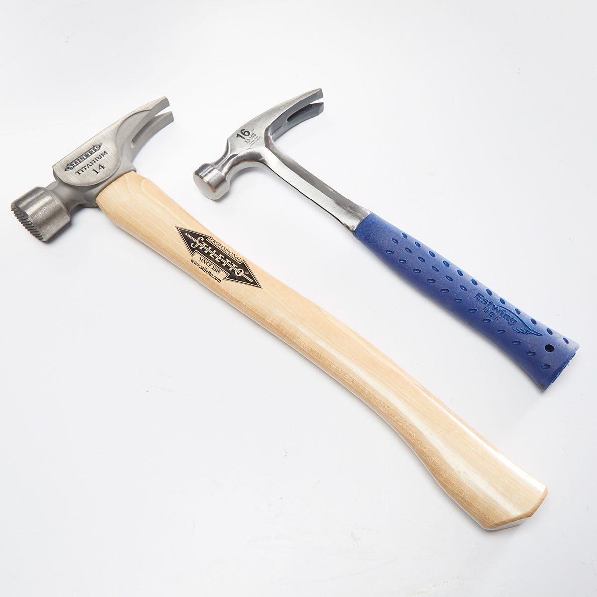 Two hammers with different handles   Construction Pro Tips