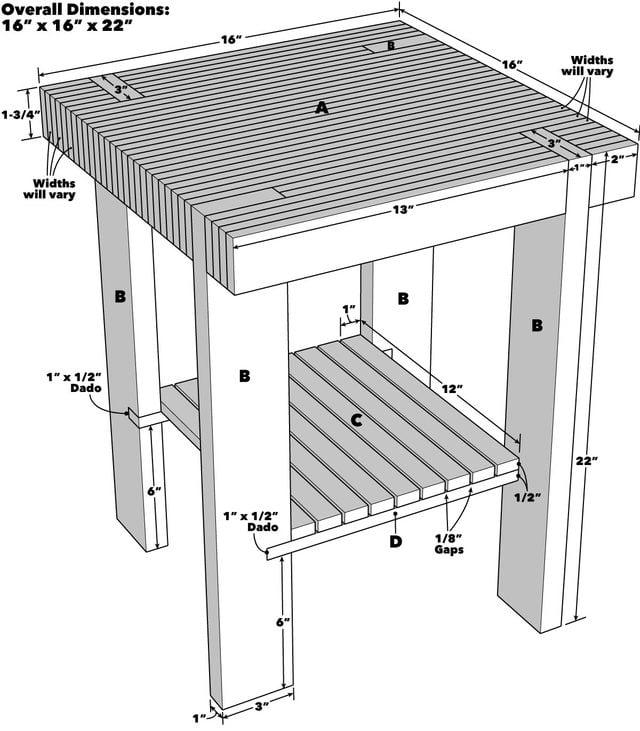 Pallet Side Table Plans