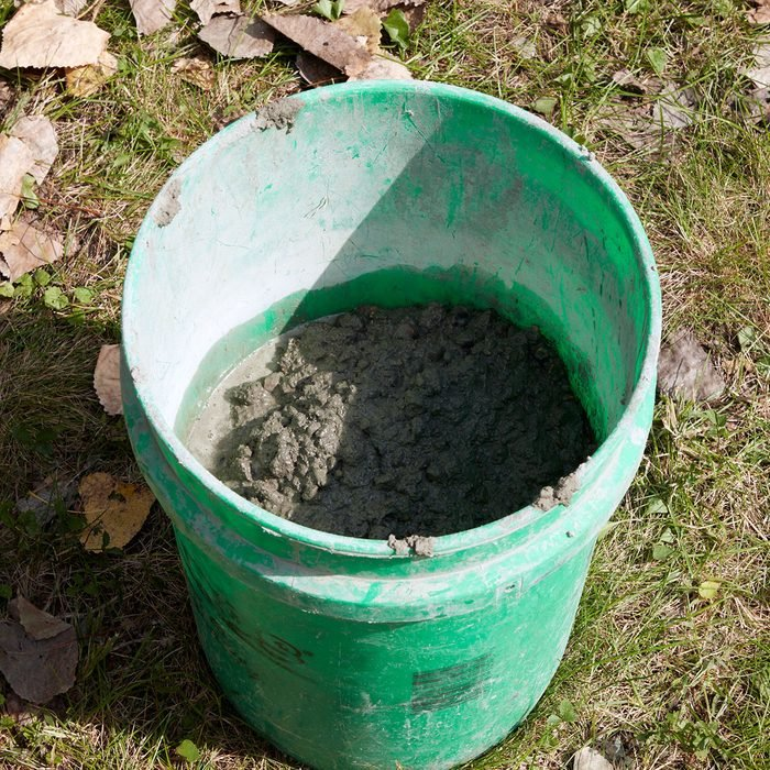 An extra bucket of concrete for later | Construction Pro Tips