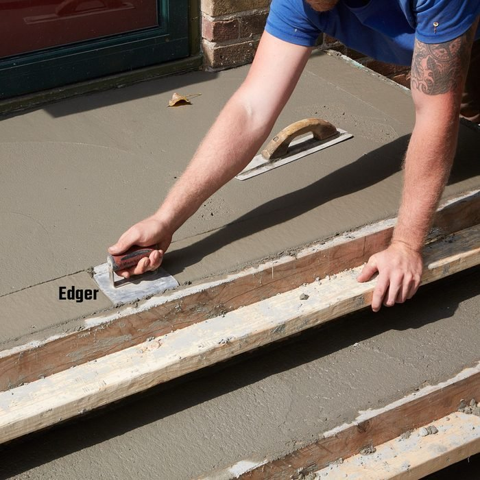 Rounding off the edges with an edger | Construction Pro Tips