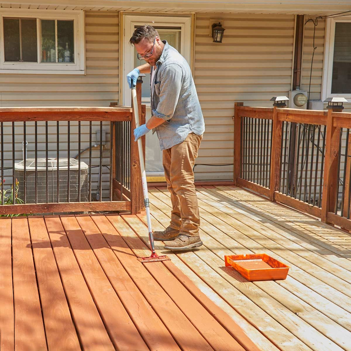 How To Refinish A Deck With Acrylic Based Stain The Family