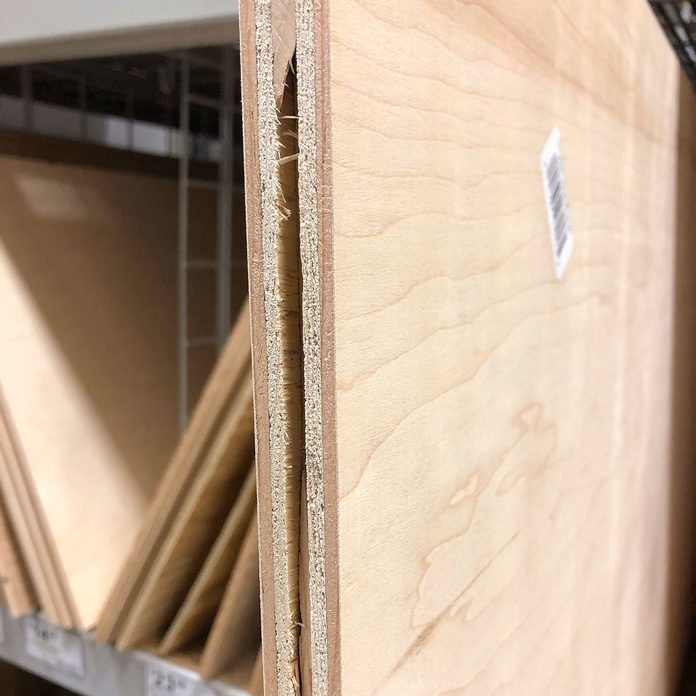 A slab of plywood with a split edge | Construction Pro Tips