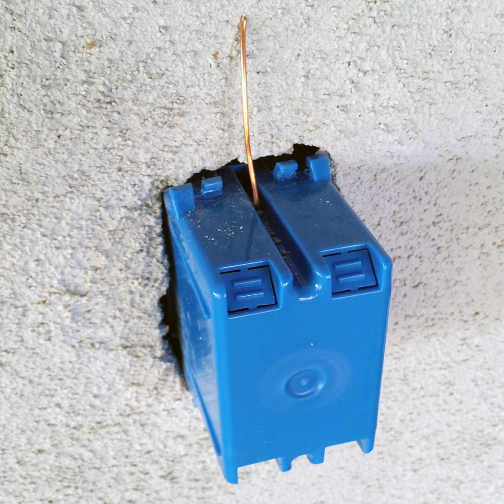Blue outlet box thing | Construction Pro Tip